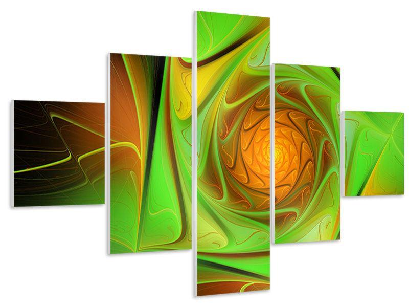 Hartschaumbild 5-teilig Abstraktionen