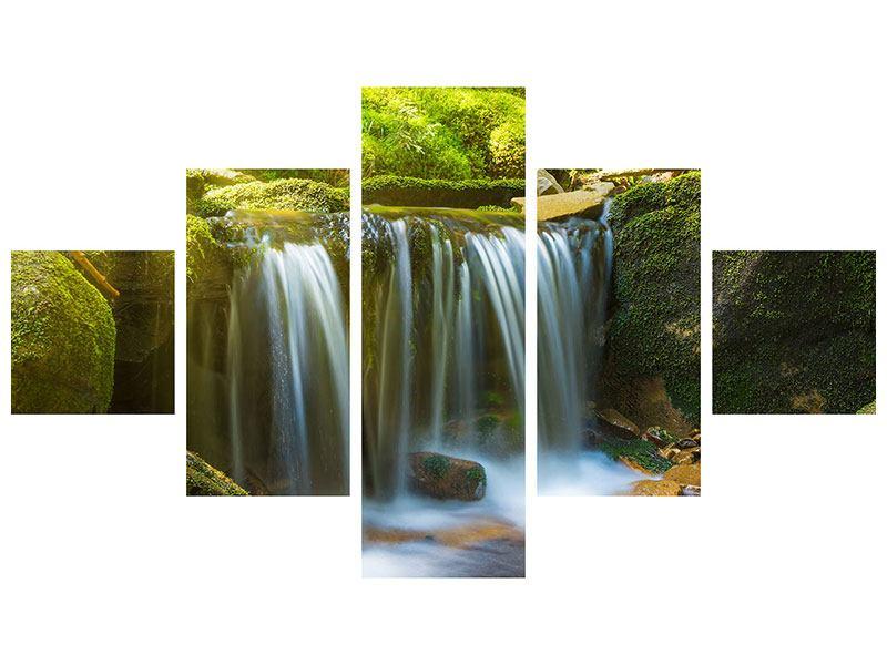 Hartschaumbild 5-teilig Schönheit des fallenden Wassers