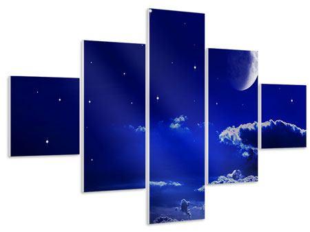 Hartschaumbild 5-teilig Der Nachthimmel