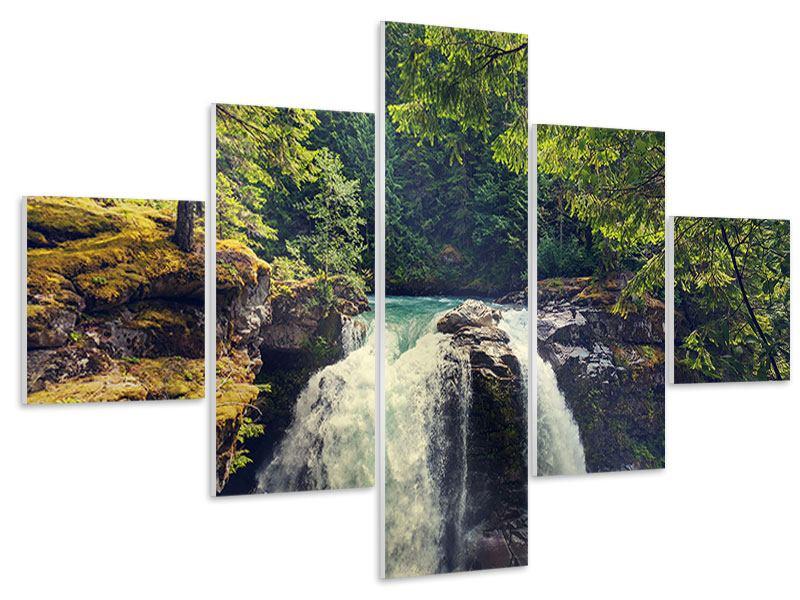 Hartschaumbild 5-teilig Flussströmung