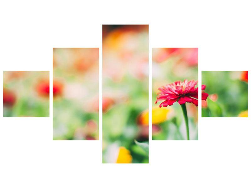 Hartschaumbild 5-teilig Im Blumengarten