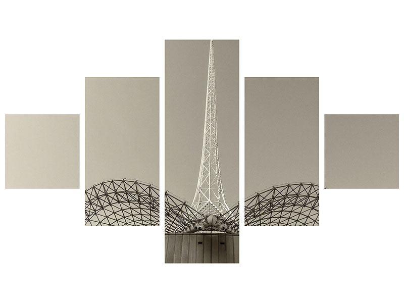 Hartschaumbild 5-teilig Close Up Wolkenkratzer