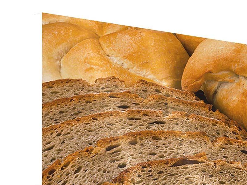 Hartschaumbild 5-teilig Brotarten