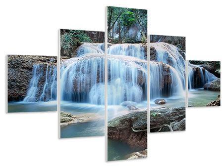 Hartschaumbild 5-teilig Ein Wasserfall