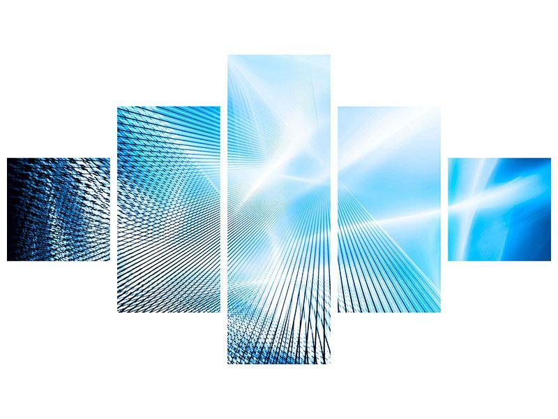 Hartschaumbild 5-teilig Laser