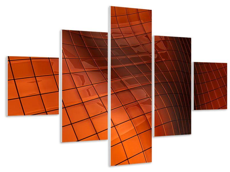 Hartschaumbild 5-teilig 3D-Kacheln