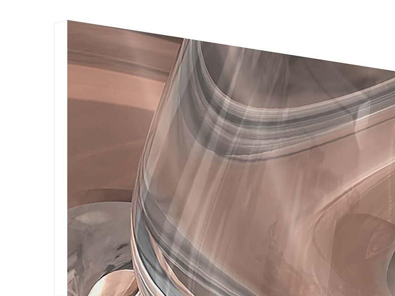 Hartschaumbild 5-teilig Abstraktes Glasfliessen
