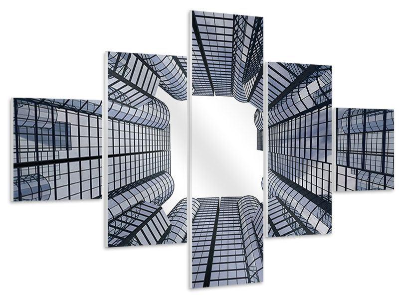 Hartschaumbild 5-teilig Besondere Perspektive
