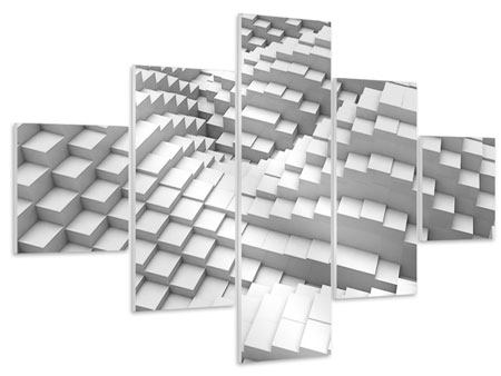 Hartschaumbild 5-teilig 3D-Elemente