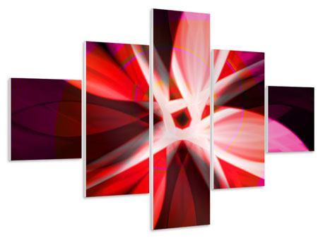 Hartschaumbild 5-teilig Abstrakt Flower Power