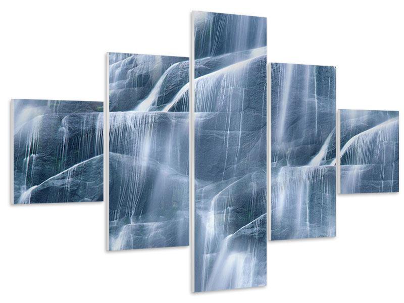 Hartschaumbild 5-teilig Grossartiger Wasserfall