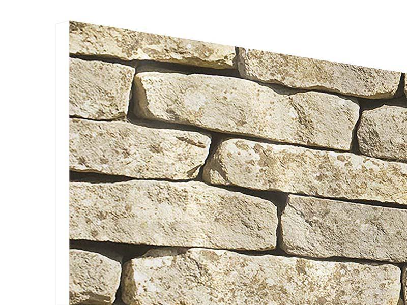 Hartschaumbild 5-teilig Alte Mauer