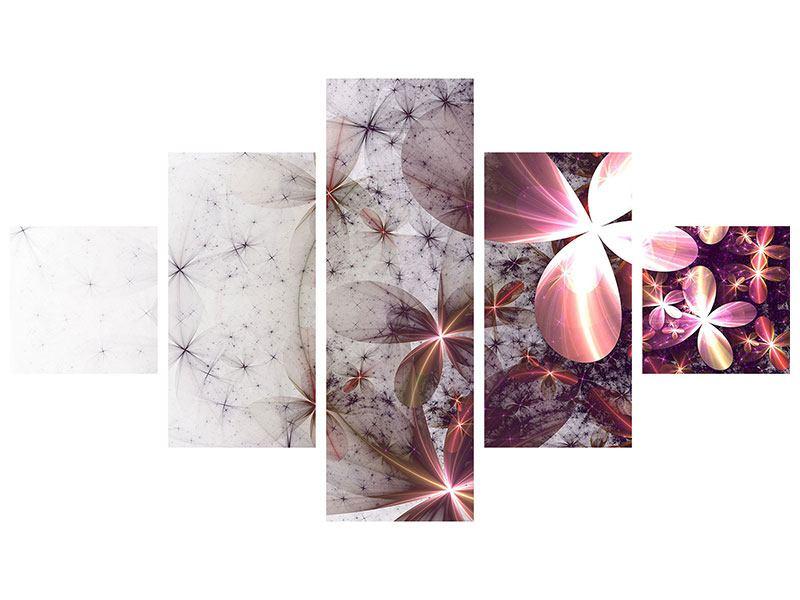 Hartschaumbild 5-teilig Abstrakte Blumen