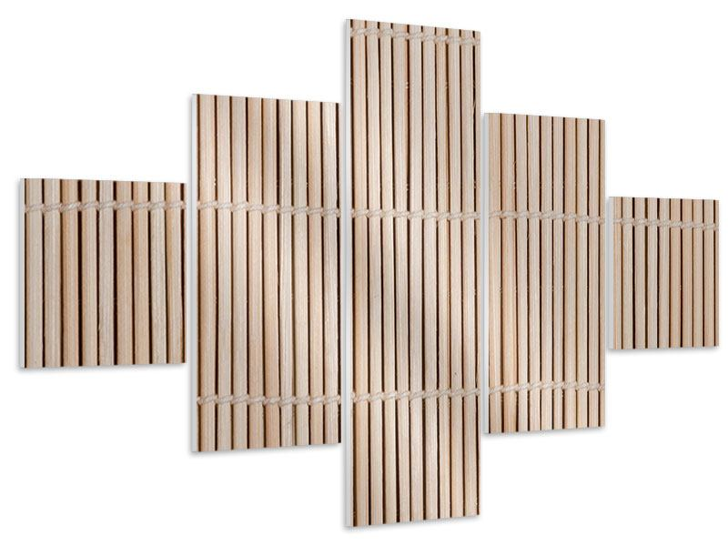 Hartschaumbild 5-teilig Lucky Bamboo