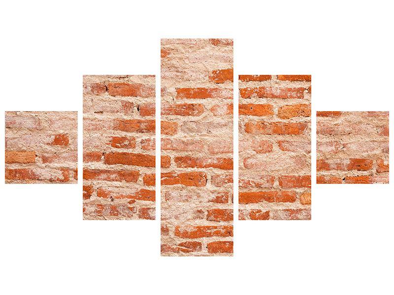 Hartschaumbild 5-teilig Mauerwerk