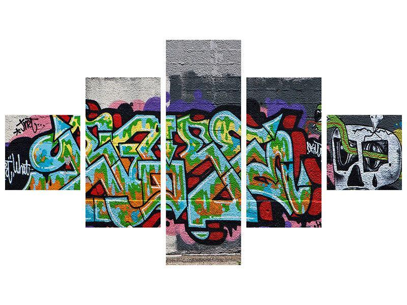 Hartschaumbild 5-teilig Graffiti in New York