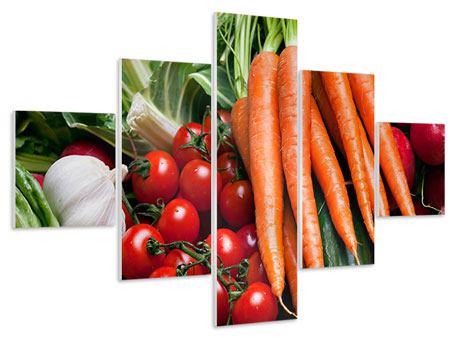 Hartschaumbild 5-teilig Gemüse