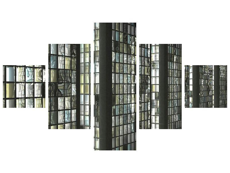 Hartschaumbild 5-teilig Windows