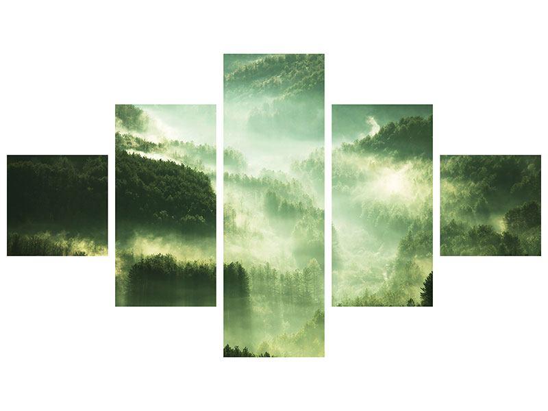 Hartschaumbild 5-teilig Über den Wäldern