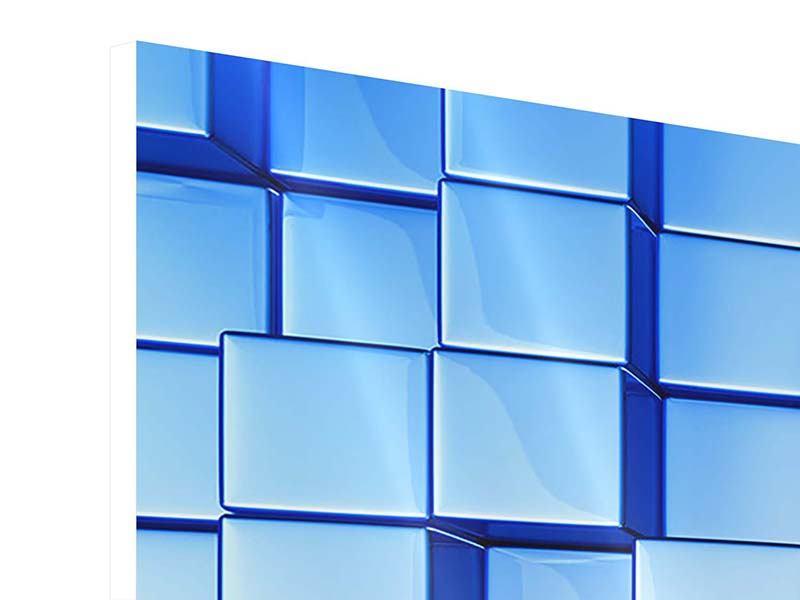 Hartschaumbild 5-teilig 3D-Symetrie