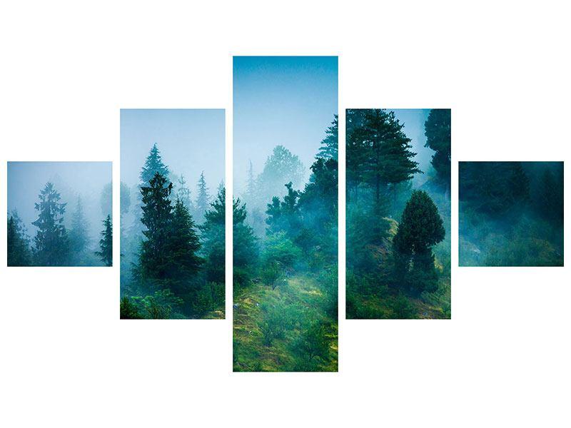 Hartschaumbild 5-teilig Geheimnisvoller Wald