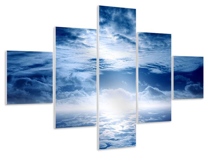 Hartschaumbild 5-teilig Mystischer Himmel