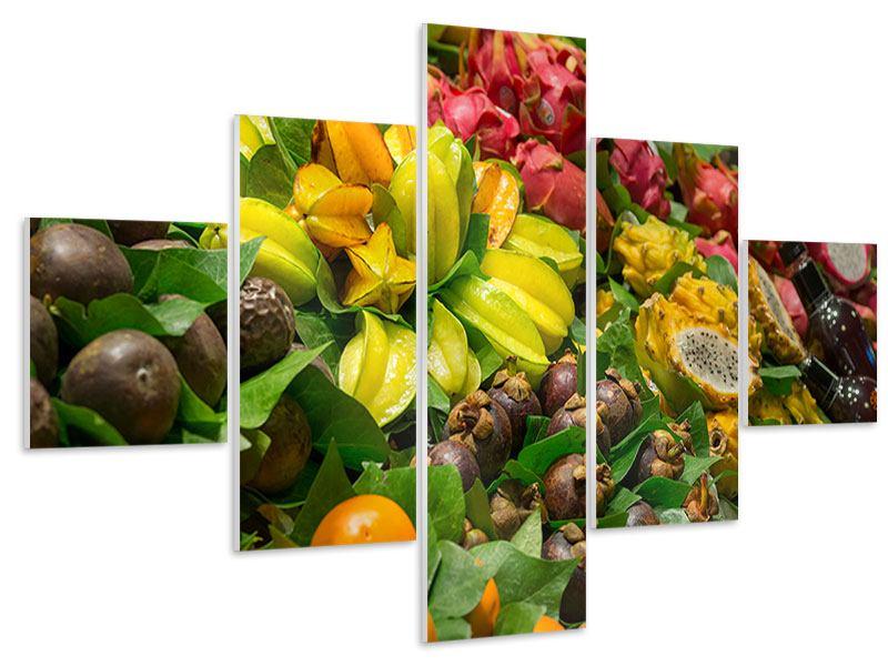 Hartschaumbild 5-teilig Früchte