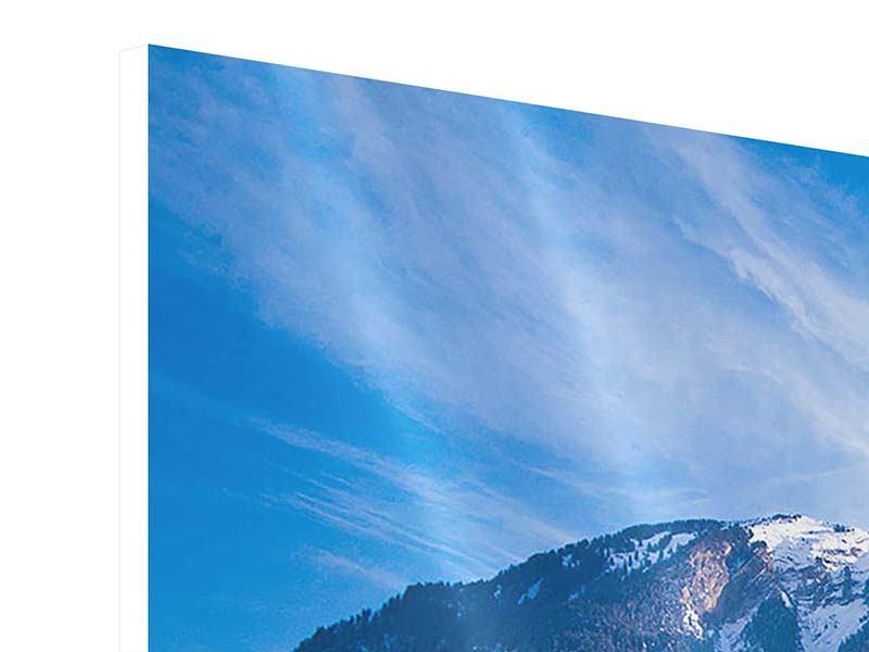 Hartschaumbild 5-teilig Winterwunderland