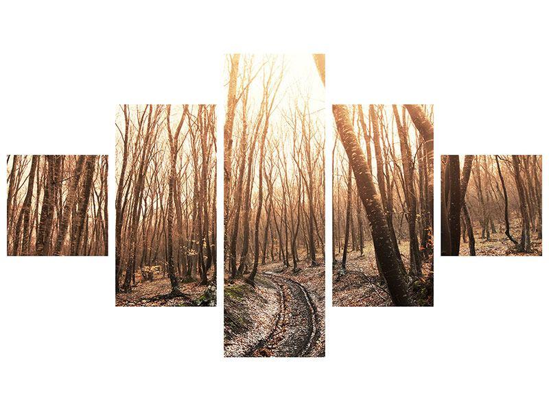 Hartschaumbild 5-teilig Der kahle Wald