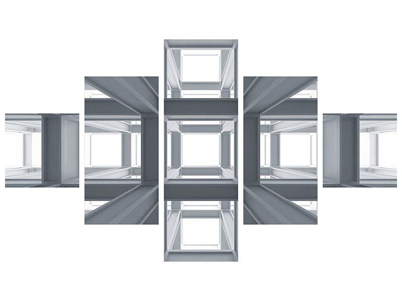 Hartschaumbild 5-teilig Räume