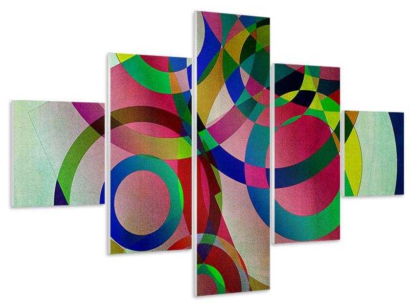 Hartschaumbild 5-teilig Wandkunst