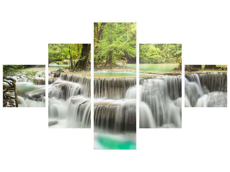 Hartschaumbild 5-teilig Erawan