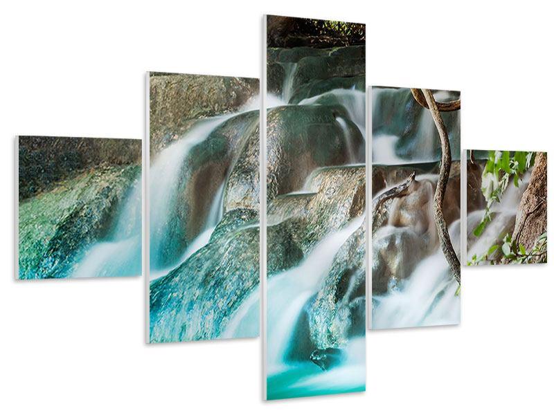 Hartschaumbild 5-teilig Am Fluss des Lebens