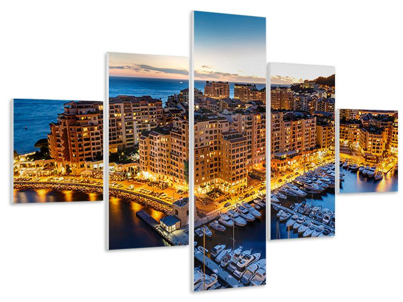 Hartschaumbild 5-teilig Monaco