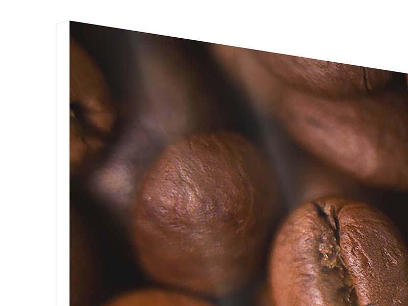Hartschaumbild 5-teilig Close Up Kaffeebohnen