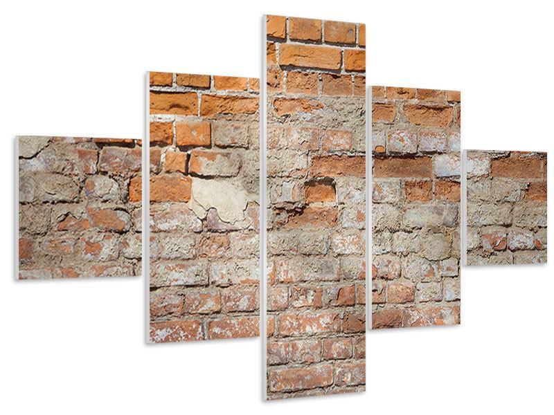 Hartschaumbild 5-teilig Alte Klagemauer