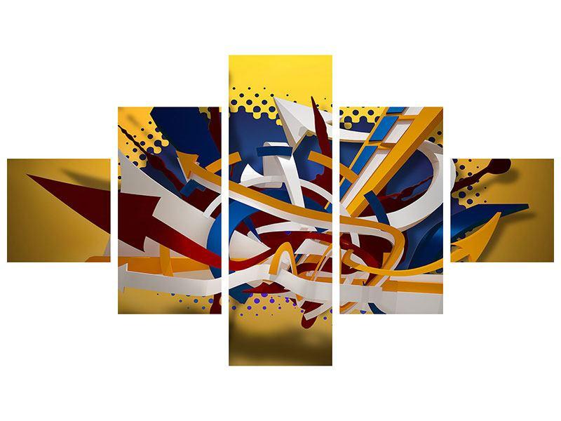 Hartschaumbild 5-teilig Graffiti Art