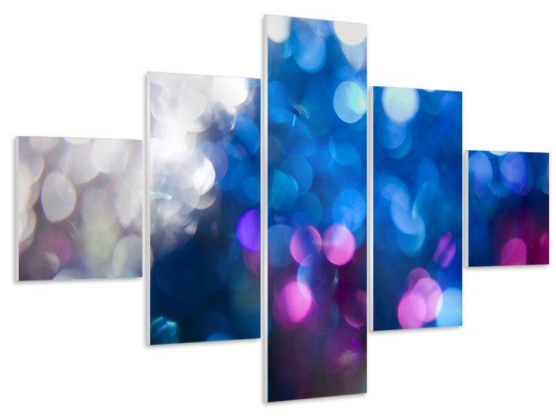 Hartschaumbild 5-teilig Abstraktes Licht