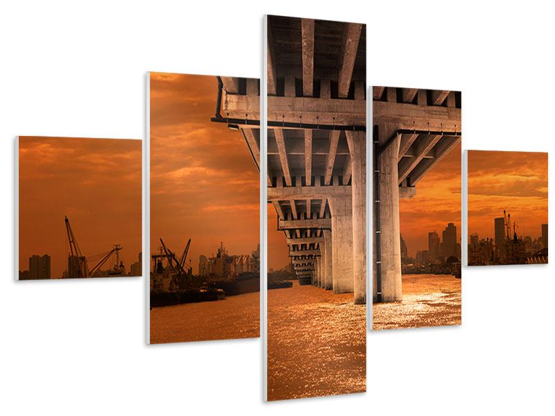 Hartschaumbild 5-teilig Die Brücke
