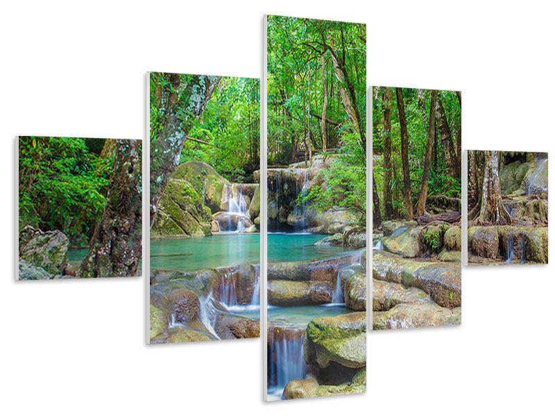 Hartschaumbild 5-teilig Wasserspektakel
