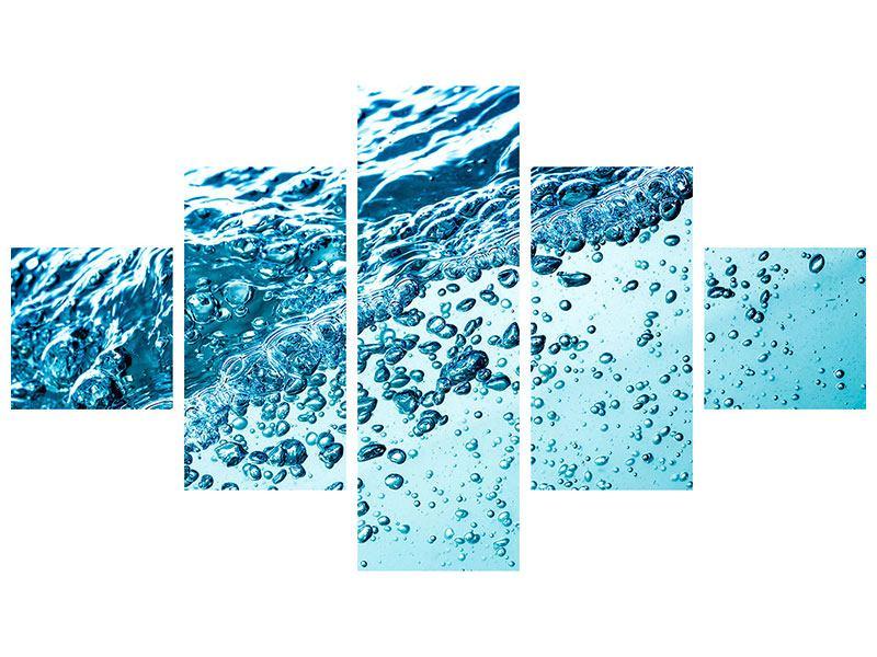 Hartschaumbild 5-teilig Wasser in Bewegung