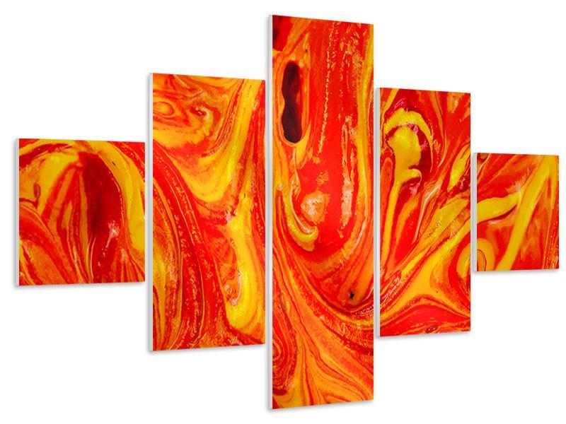 Hartschaumbild 5-teilig Wandgemälde