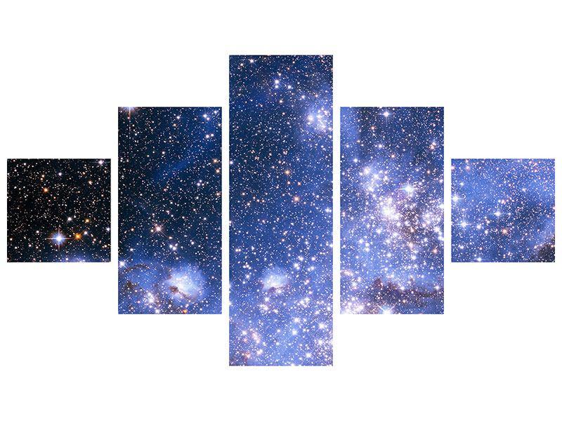 Hartschaumbild 5-teilig Sternenhimmel