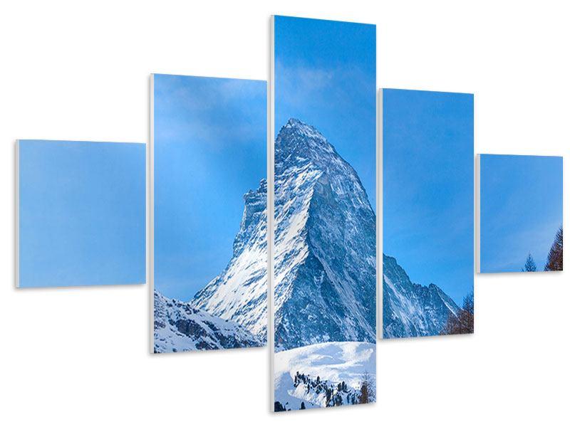 Hartschaumbild 5-teilig Das majestätische Matterhorn