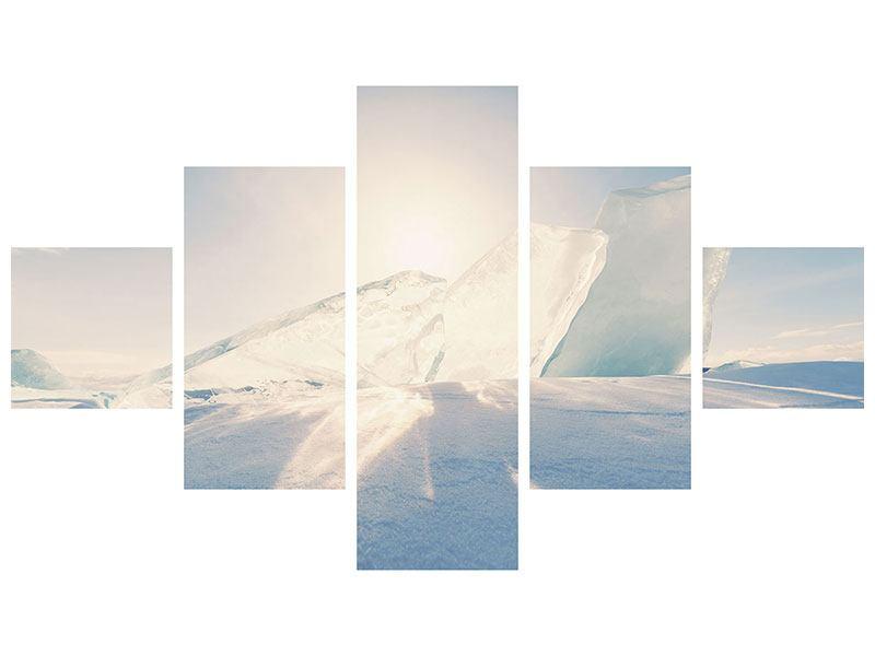 Hartschaumbild 5-teilig Eislandschaft