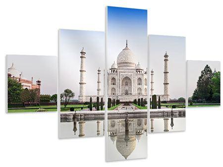 Hartschaumbild 5-teilig Taj Mahal