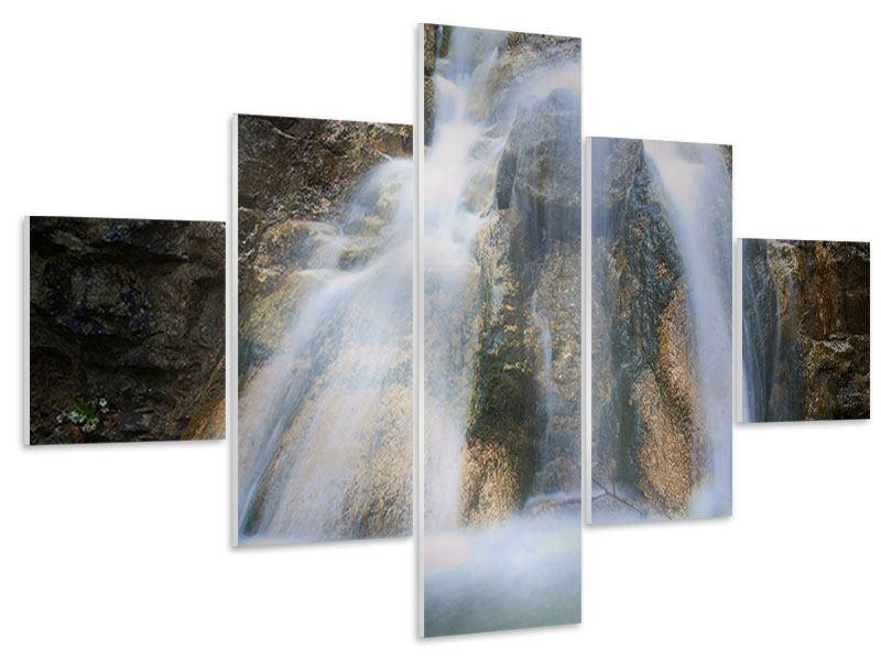 Hartschaumbild 5-teilig Imposanter Wasserfall