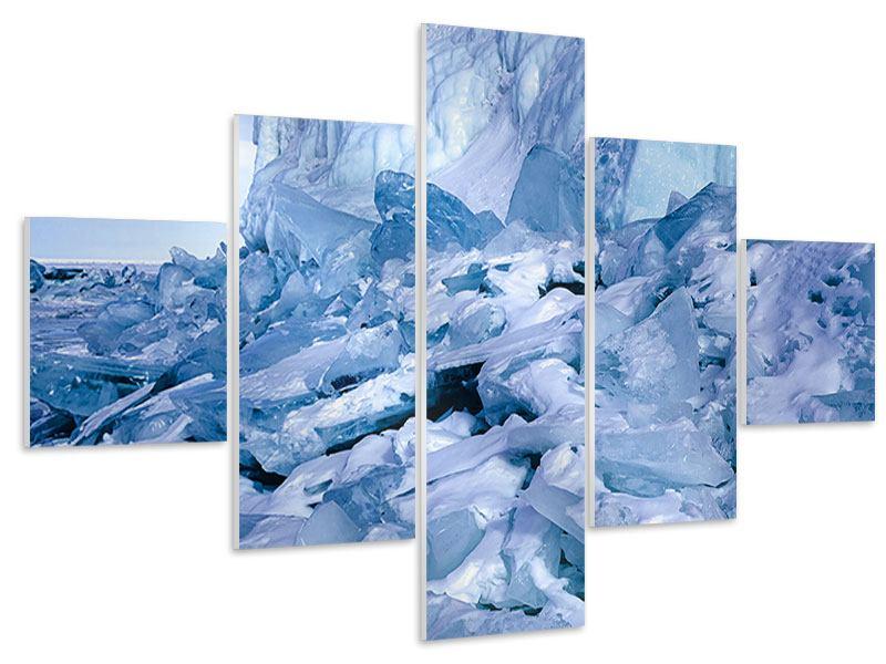 Hartschaumbild 5-teilig Eislandschaft Baikalsee