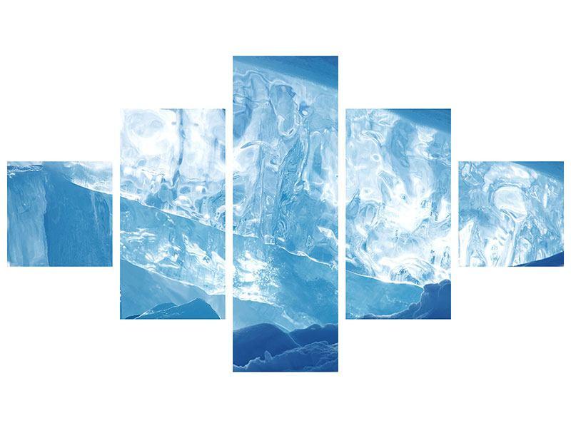 Hartschaumbild 5-teilig Baikalsee-Eis