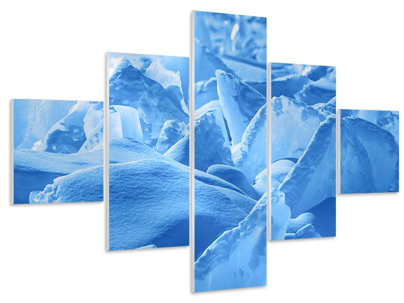 Hartschaumbild 5-teilig Eis des Baikalsees